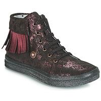 Sapatos Rapariga Sapatilhas de cano-alto Catimini LOULOU Preto / Rosa