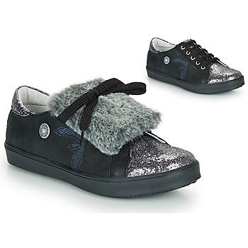 Sapatos Rapariga Sapatilhas Catimini MARGOTTE Preto / Prata
