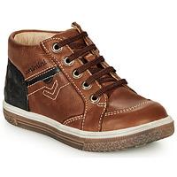Sapatos Rapaz Sapatilhas de cano-alto Catimini PASCOU Nub / Castanho
