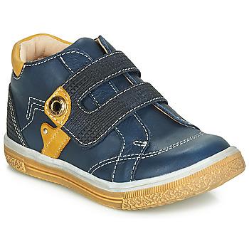 Sapatos Rapaz Sapatilhas de cano-alto Catimini BICHOU Marinho / Mostarda