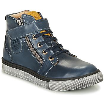 Sapatos Rapaz Sapatilhas de cano-alto Catimini TOBBY Marinho