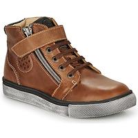 Sapatos Rapaz Sapatilhas de cano-alto Catimini TOBBY Castanho