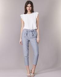 Textil Mulher Calças Betty London IKARALE Azul / Branco
