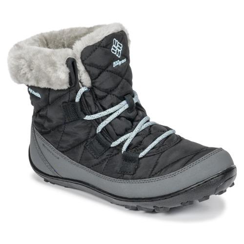 Sapatos Criança Botas de neve Columbia YOUTH MINX SHORTY OMNI-HEAT™ WATERPROOF Preto