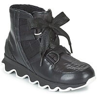 Sapatos Mulher Botas de neve Sorel KINETIC SHORT LACE Preto