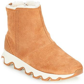 Sapatos Mulher Botas de neve Sorel KINETIC SHORT Camel