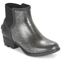 Sapatos Mulher Botas baixas Sorel JANEY CHELSEA Preto / Prateado