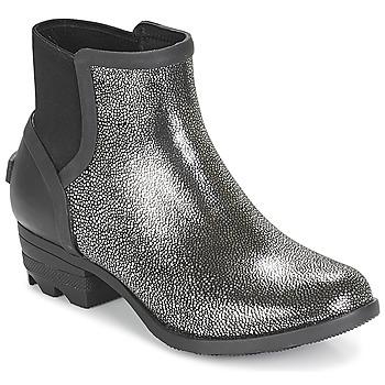 Sapatos Mulher Botas baixas Sorel JANEY™ CHELSEA Preto / Prateado
