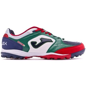 Sapatos Chuteiras Joma Top Flex Turf White-Green-Blue
