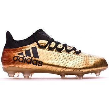 Sapatos Chuteiras adidas Performance X 17.2 FG Tactile gold metallic-Core black-Solar red