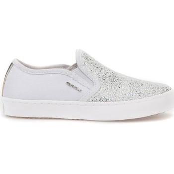 Sapatos Criança Slip on Geox JR Kilwi Girl Branco,Prateado