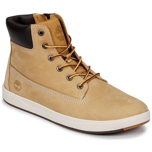 Sapatos Criança Sapatilhas de cano-alto Timberland Davis Square 6 Inch Boot Castanho