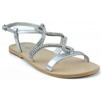 Sapatos Mulher Sandálias Oca Loca OCA LOCA  METALIZADA ADORNO STRASS ORO PLATA
