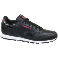Sapatos Criança Sapatilhas Reebok Sport CL Leather Girl Squad Preto