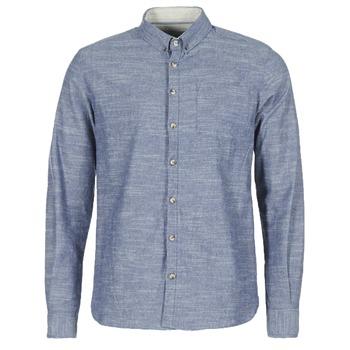 Textil Homem Camisas mangas comprida Casual Attitude IPODRUM Azul