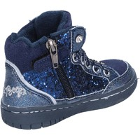 Sapatos Rapariga Sapatilhas Betty Boop sneakers blu glitter camoscio AC02 Blu
