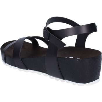 Sapatos Mulher Sandálias 5 Pro Ject sandali nero pelle bianco AC700 Nero