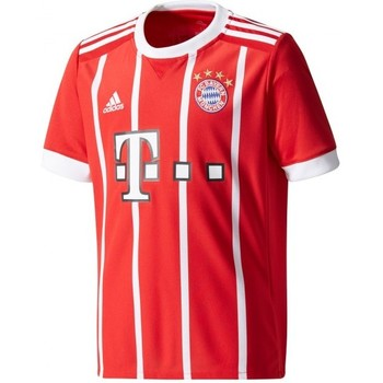Textil Rapaz T-Shirt mangas curtas adidas Performance Jr FC Bayern Munich Principal 2017-2018 True red-White