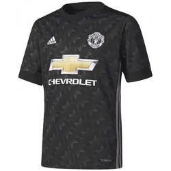 Textil Rapaz T-Shirt mangas curtas adidas Performance Jr Manchester United FC Alternativo 2017-2018 Black-White-Granite