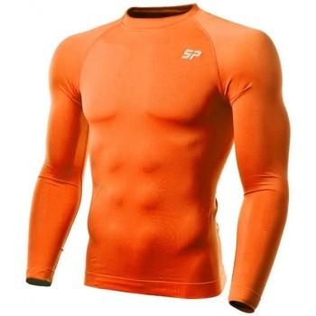 Textil Rapaz T-shirt mangas compridas Sp Fútbol Térmica Doble densidad Laranja