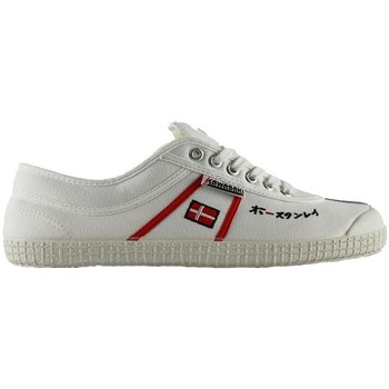 Sapatos Sapatilhas Kawasaki 23 sp edit white red stripes Branco