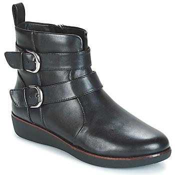 Sapatos Mulher Botas baixas FitFlop LAILA DOUBLE BUCKLE Preto