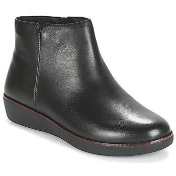 Sapatos Mulher Botas baixas FitFlop ZIGGY ZIP Preto