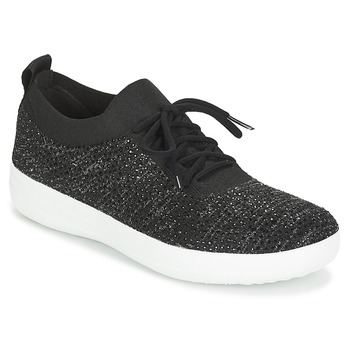 Sapatos Mulher Sapatilhas FitFlop F SPORTY UBERKNIT SNEAKERS CRYSTAL Preto