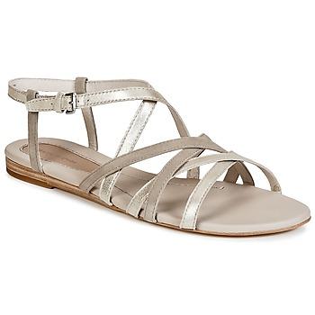 Sapatos Mulher Sandálias Marc O'Polo PRAVA Bege / Prateado