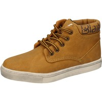 Sapatos Rapaz Sapatilhas de cano-alto Blaike sneakers giallo pelle AD702 Giallo