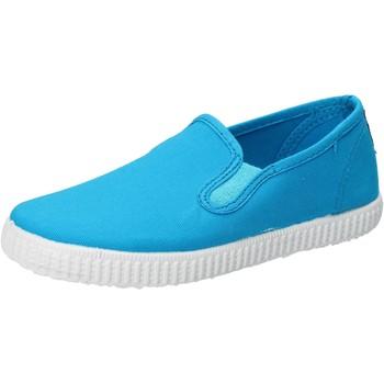 Sapatos Rapaz Slip on Cienta AD780 Turquesa