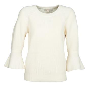 Textil Mulher camisolas MICHAEL Michael Kors SHAKER ROUND SLV Branco