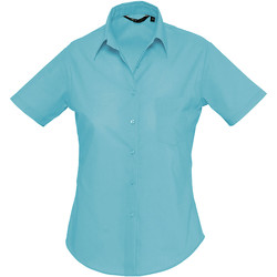 Textil Mulher camisas Sols ESCAPE POPELIN WOMEN Azul