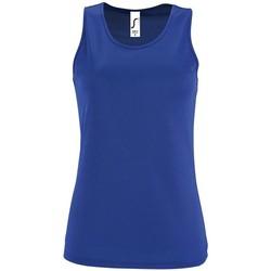 Textil Mulher Tops sem mangas Sols SPORT TT WOMEN Azul