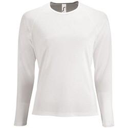 Textil Mulher T-shirt mangas compridas Sols SPORTY LSL WOMEN Blanco