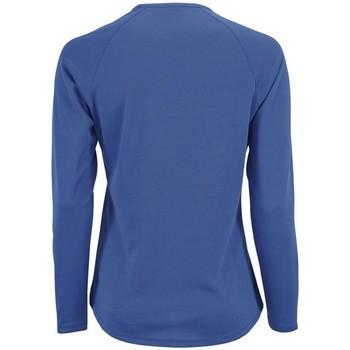 Textil Mulher T-shirt mangas compridas Sols SPORTY LSL WOMEN Azul