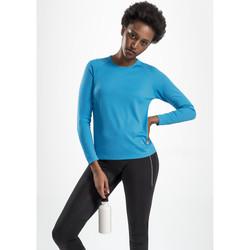 Textil Mulher T-shirt mangas compridas Sols SPORT LSL WOMEN Azul