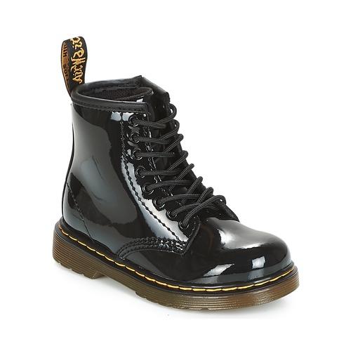 Sapatos Rapariga Botas baixas Dr Martens 1460 PATENT CADET Preto