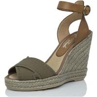 Sapatos Mulher Alpargatas Mtbali Sandálias  Tacão Compensado - Sand Kaki verde