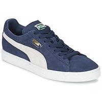 Sapatos Sapatilhas Puma SUEDE CLASSIC Azul / Branco