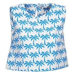 Textil Mulher Tops sem mangas Suncoo LANA Branco / Azul