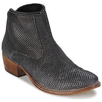 Sapatos Mulher Botas baixas Meline ELISE Preto