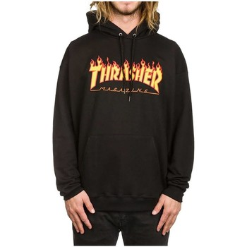 Textil Homem Sweats Thrasher SUDADERA  FLAME LOGO Preto