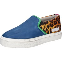 Sapatos Mulher Slip on Date AB540 Azul