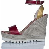 Sapatos Mulher Sandálias Mtbali Sandálias Tacão Compensado - Savane Spain rojo