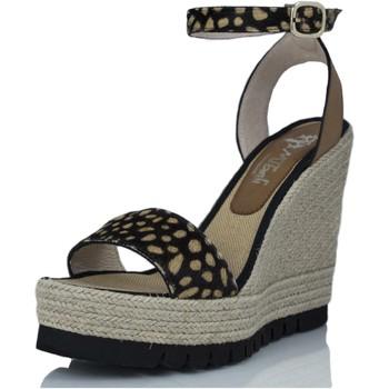 Sapatos Mulher Sandálias Mtbali Sandálias Tacão Compensado - Savane Potro marrón
