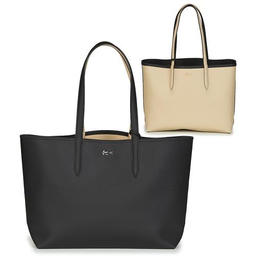 Malas Mulher Cabas / Sac shopping Lacoste ANNA Preto / Bege
