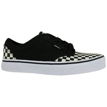 Sapatos Criança Sapatos estilo skate Vans atwood checkerboard black white kids 38