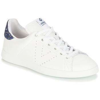 Sapatos Rapariga Sapatilhas Victoria DEPORTIVO BASKET PIEL Branco / Azul