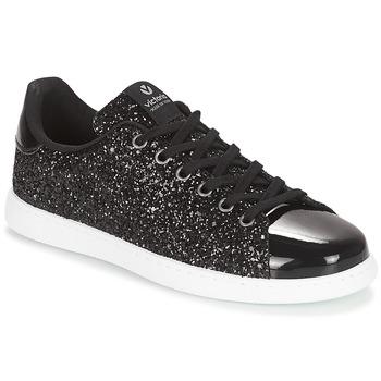 Sapatos Mulher Sapatilhas Victoria DEPORTIVO BASKET GLITTER Preto
